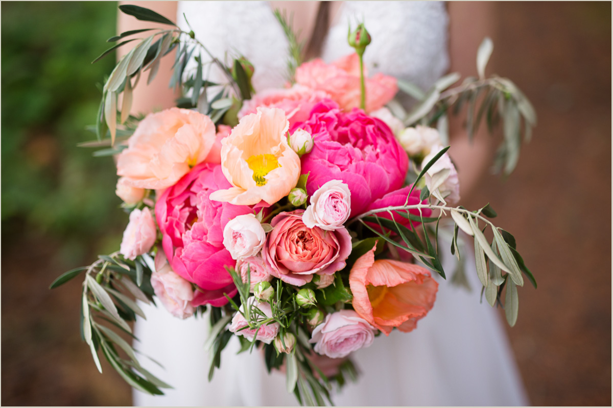 Pink Peony Wedding Flowers Country Bouquets Floral Kitsap