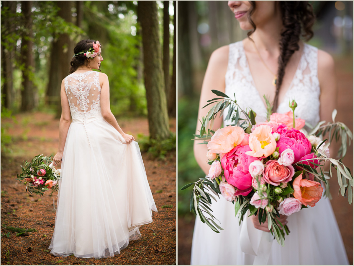 Romantic Spring Wedding Lace and Peonies
