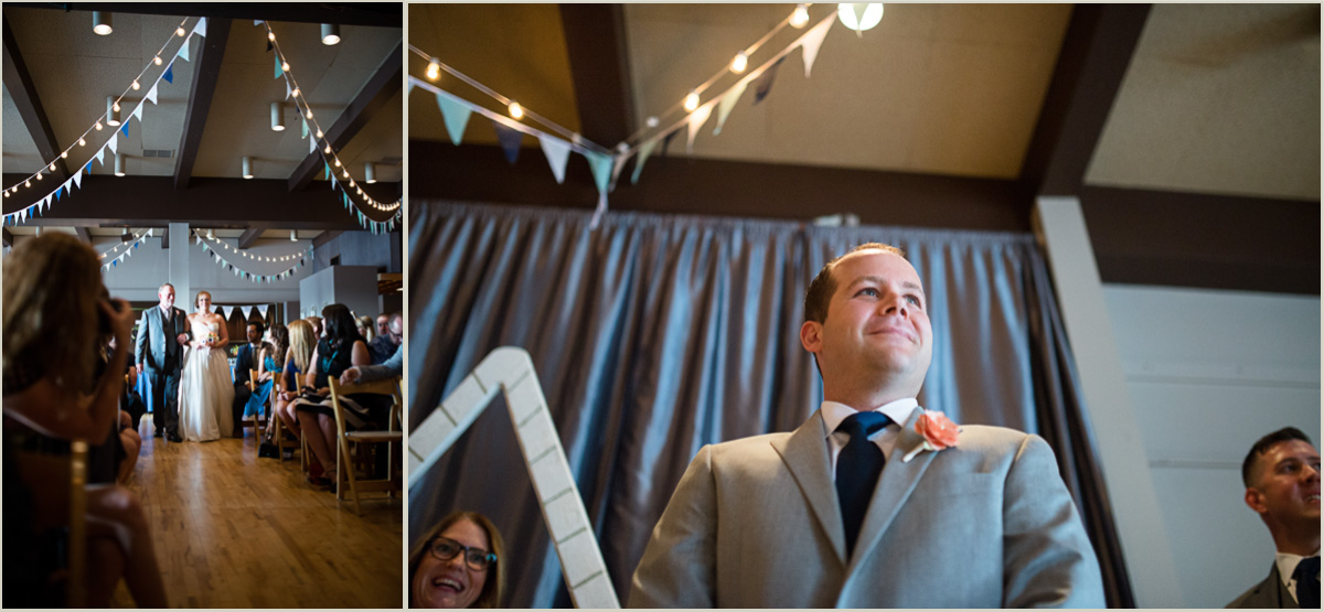 Wedding Ceremony in Seattle at the Tyee Yacht Club Venue