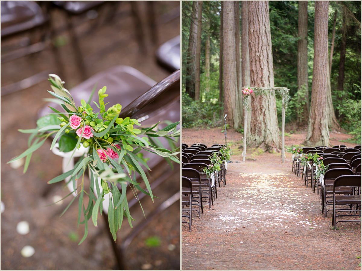 Wedding Ceremony in the Woods in Washington