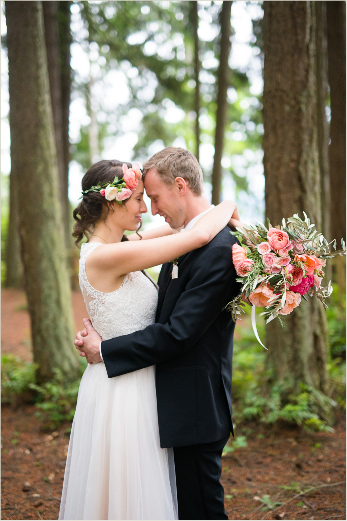 Woodsy Romantic Spring Wedding with Peonies