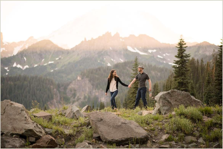 Tipsoo Lake Engagement Photos | Seattle Wedding Photographers