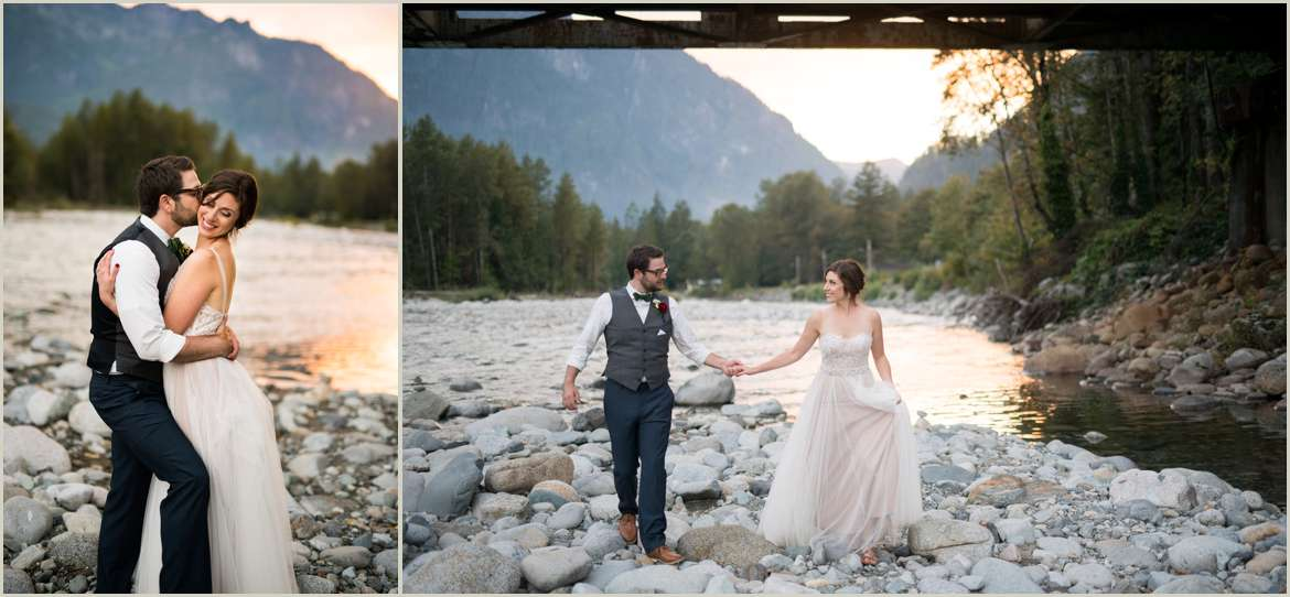 adventurous wedding day in the mountains