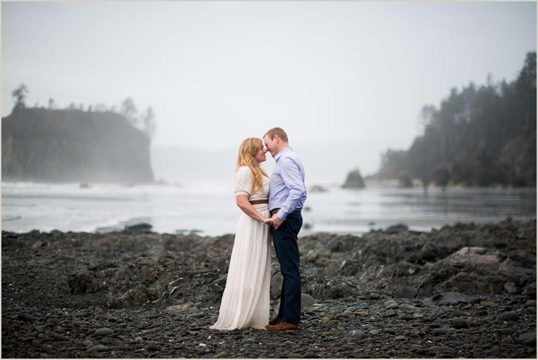 coastal pnw beach couples session