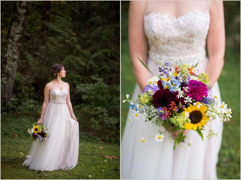 colorful boho bride
