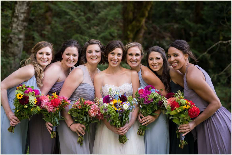 colorful bridal party dresses