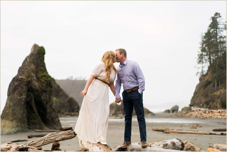 engagement photos at ruby beach