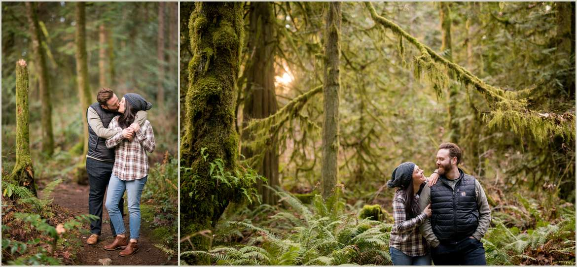 engagement photos for adventurous couples in washington