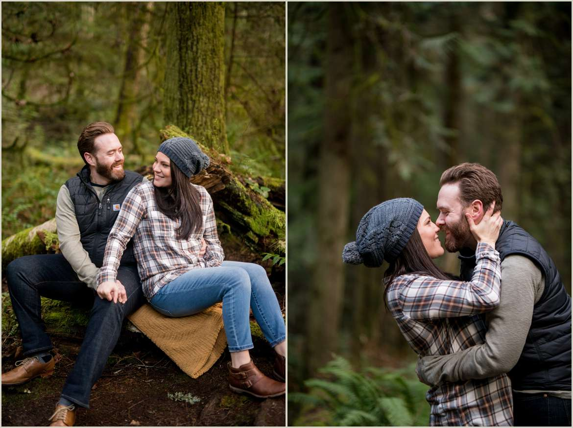 engagement session on bainbridge