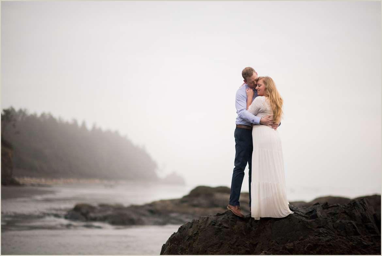 pacific coast engagement photo