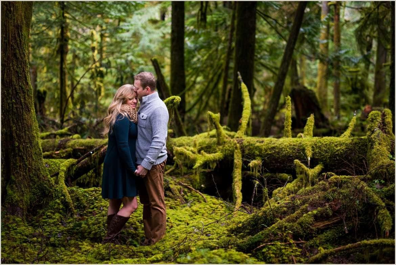 pnw forest engagement photos