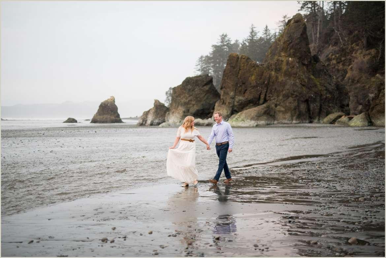 ruby beach engagement photos