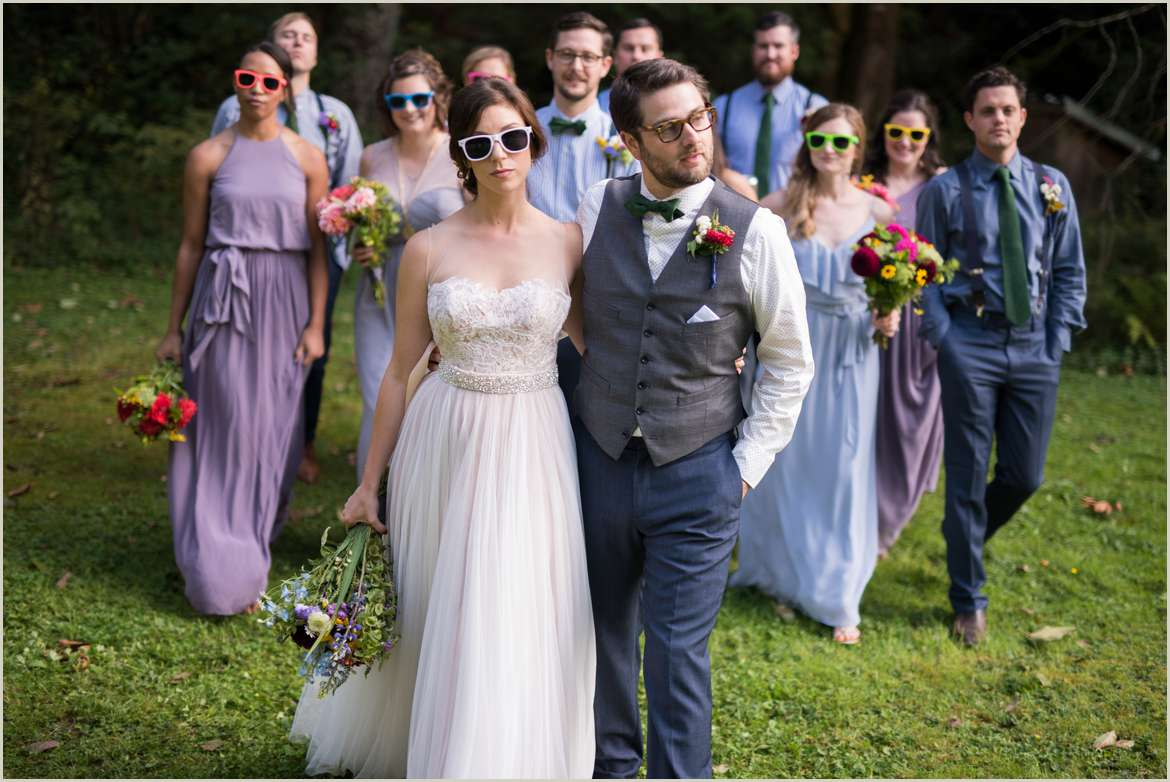 super cool wedding party group
