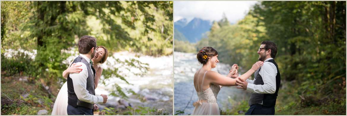 sweet first look by the river in index