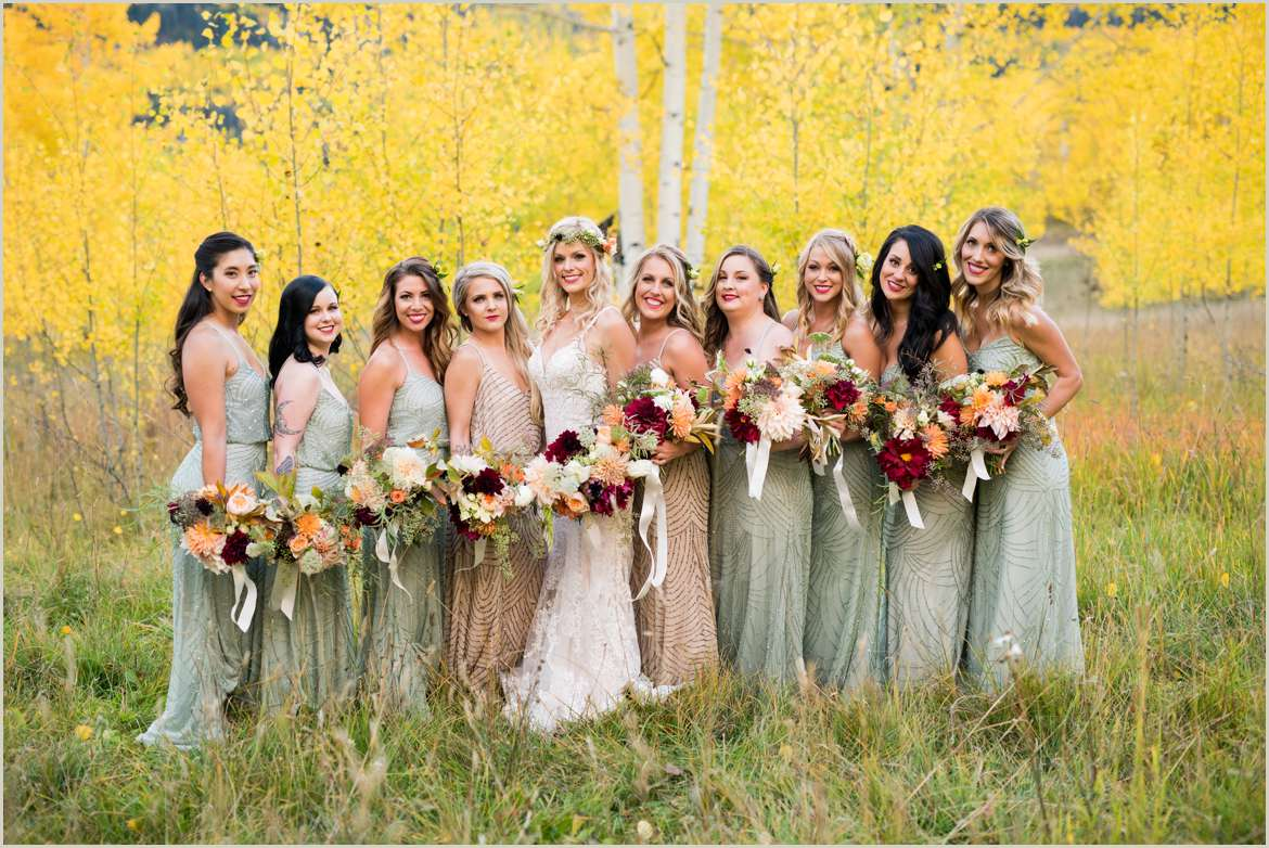 adriana papell bridesmaids fall wedding