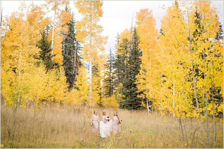 bride walking to adventure wedding