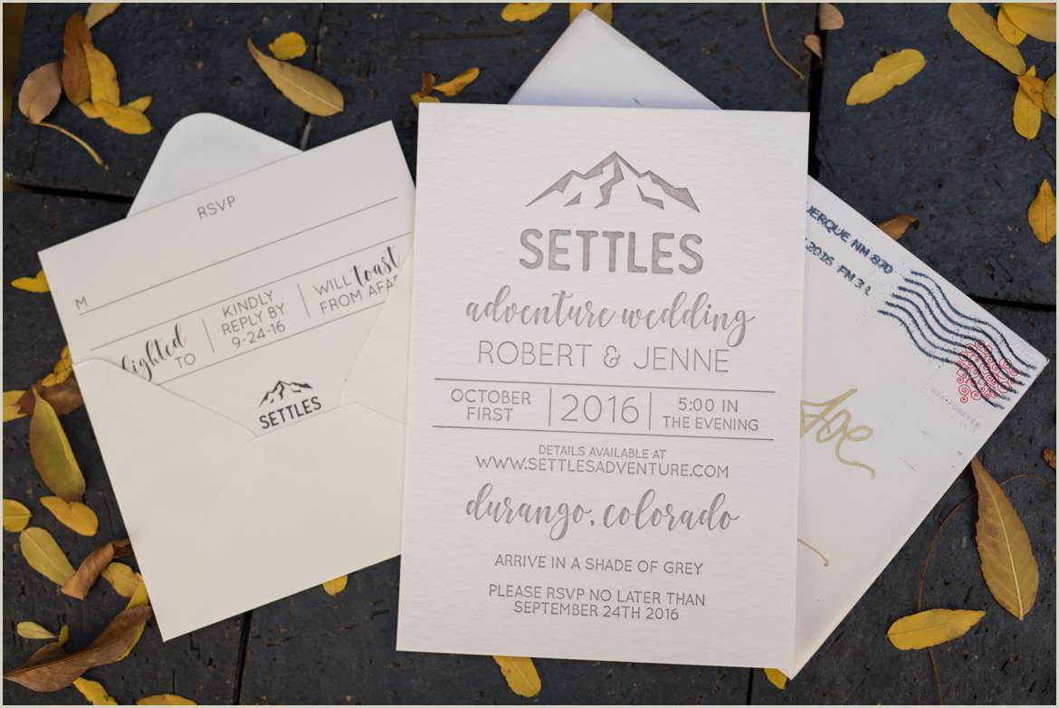 colorado adventure wedding invitation