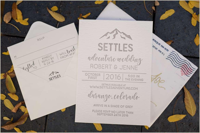 colorado adventure wedding invitation