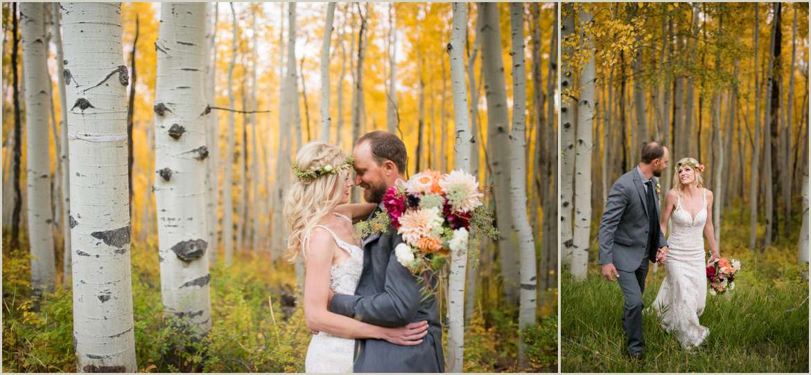 colorado aspen wedding photos