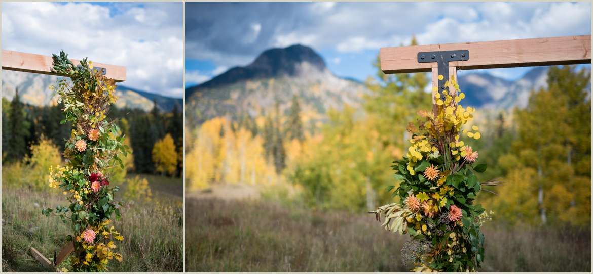 diy arbor for mountain elopement