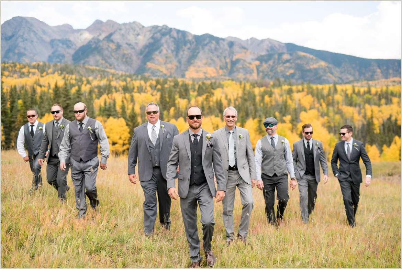 fall colorado mountain wedding