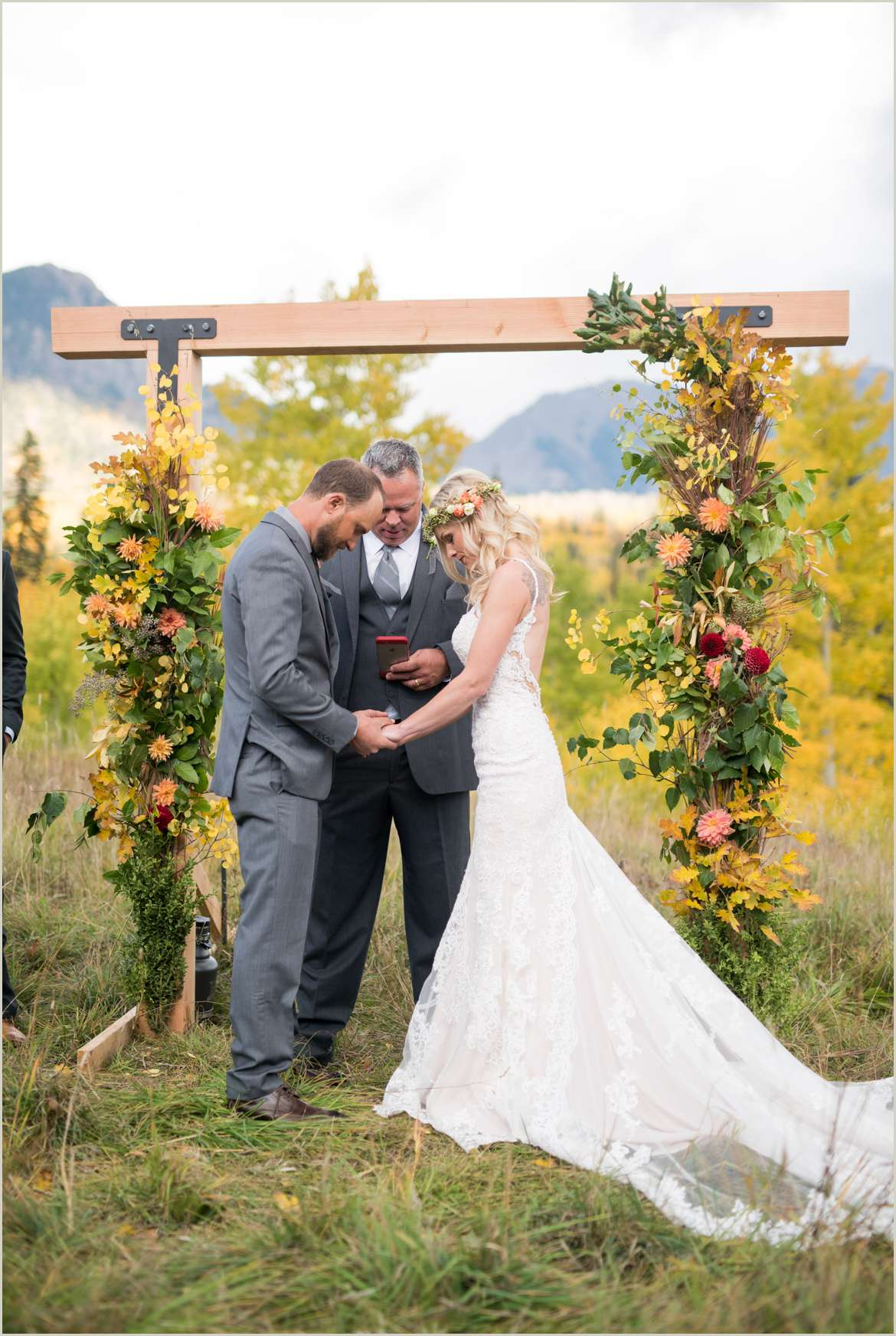 fall durango colorado wedding
