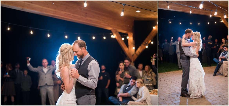 outdoor wedding reception in durango colorado