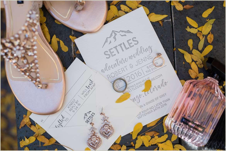 rose gold fall wedding details