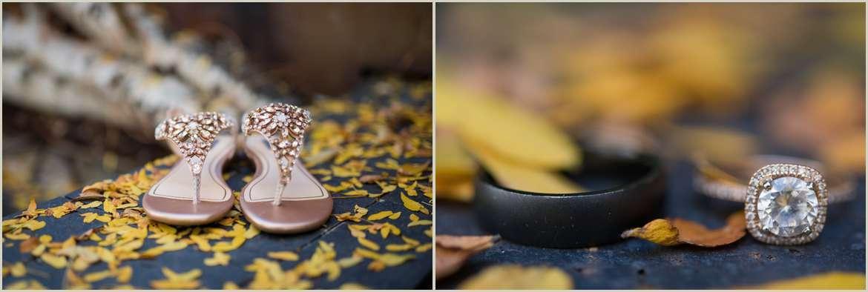 rose gold wedding details for fall wedding