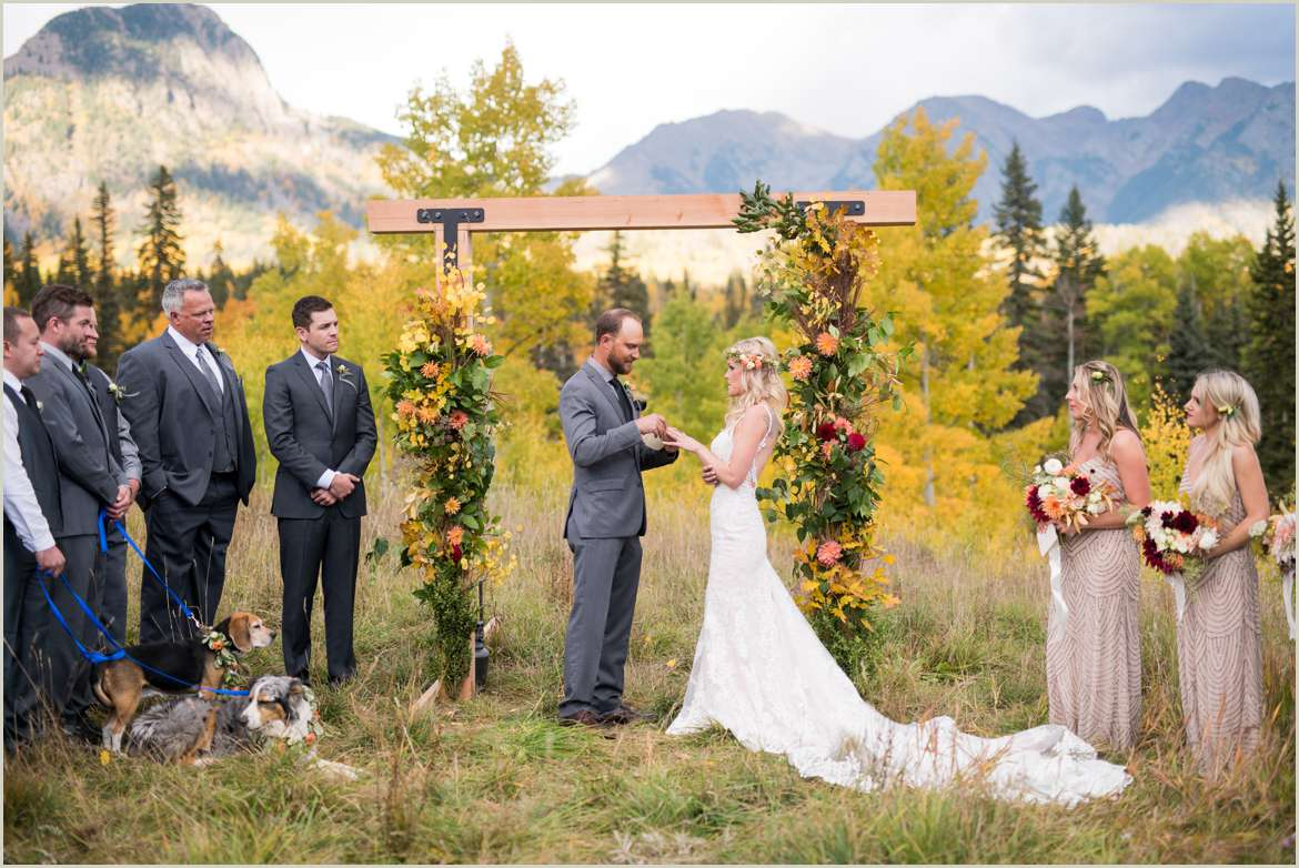 wedding ceremony in the mountains durango colorado