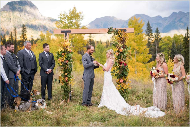 wedding ceremony in the mountains durango colorado