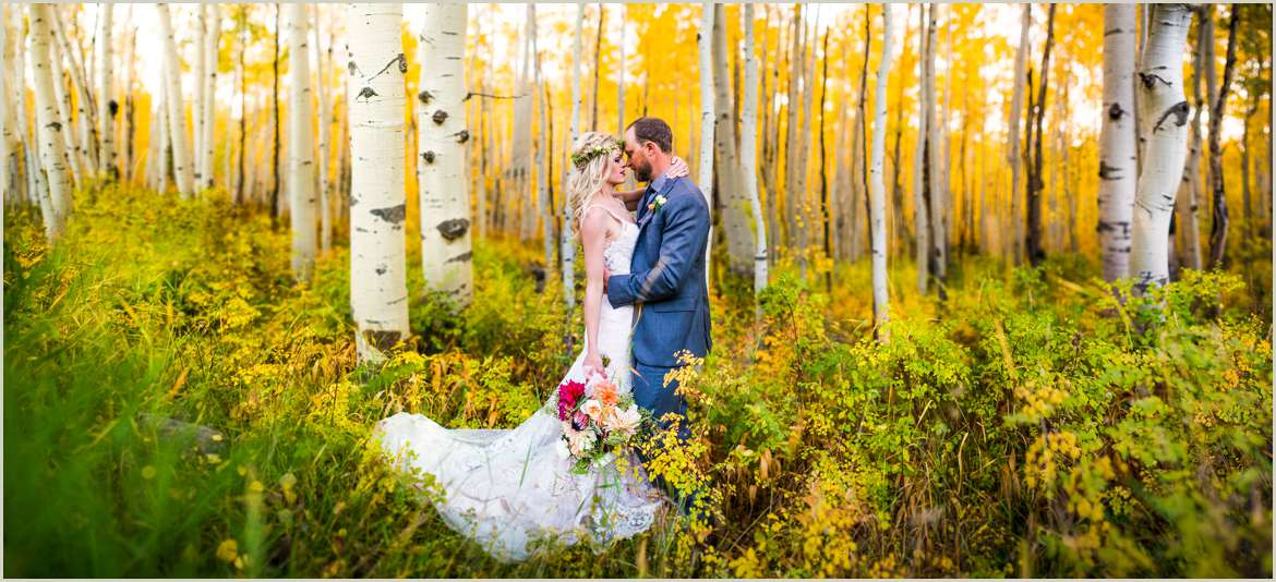 wedding in an aspen grove in colorado