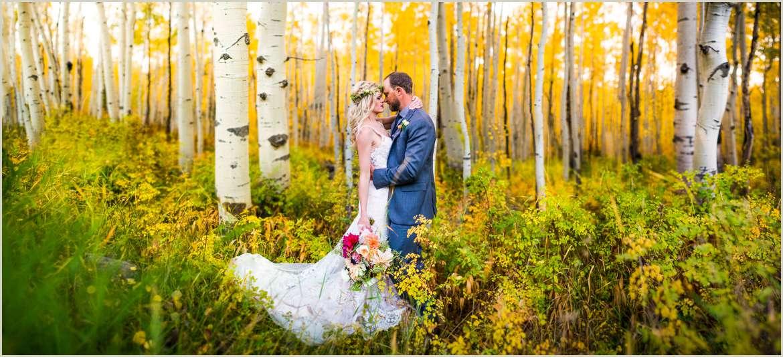 wedding in an aspen grove in colorado