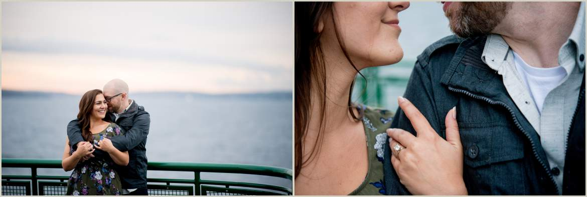 couples photos on a ferry