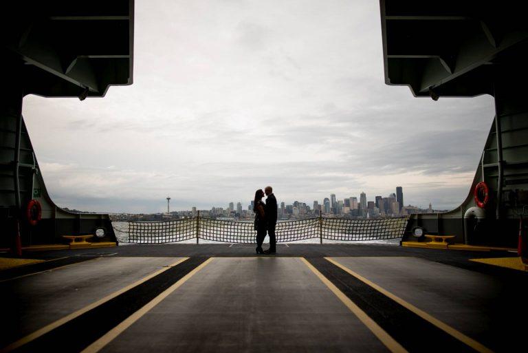 Seattle Ferry Engagement Photos | Seattle Wedding Photographers