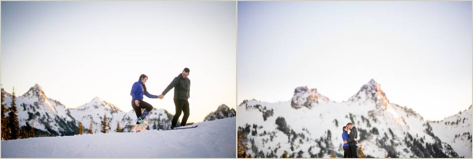 adventurous engagement photos at mount rainier