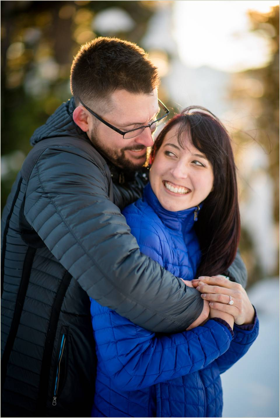 authentic emotions during engagement session