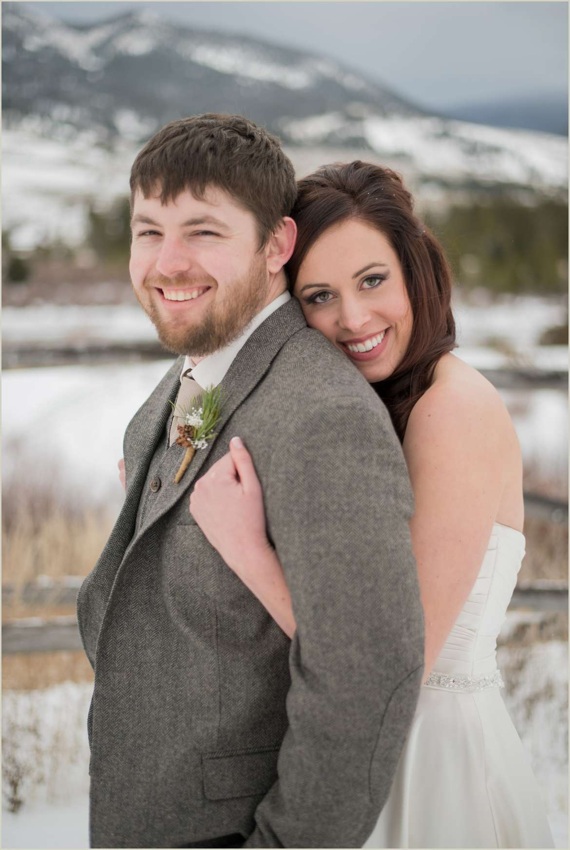 big sky montana winter wedding