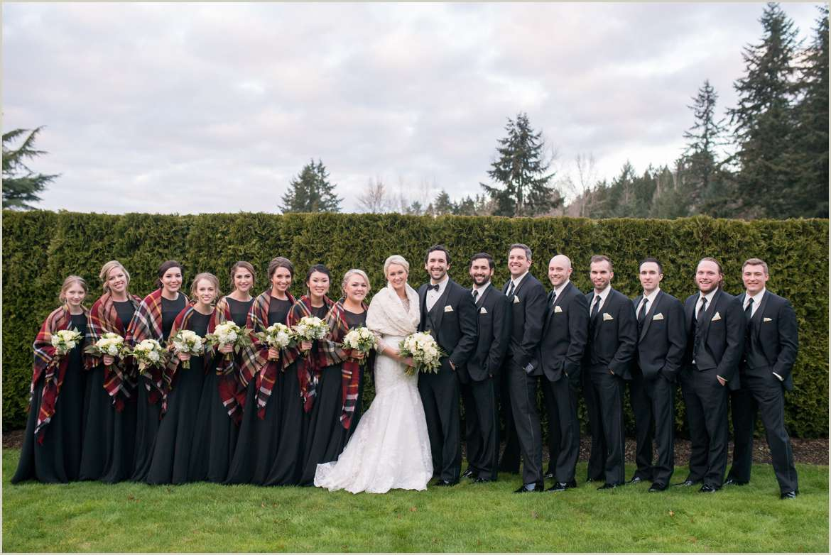 black and white classic wedding at hollywood schoolhouse 1