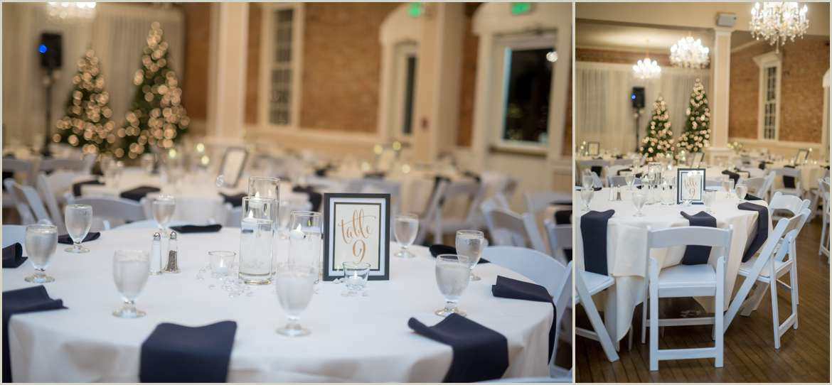 Black And White Wedding Reception Colors