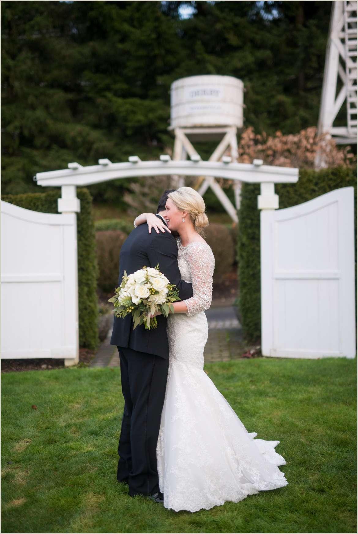 bride and groom hugging 1