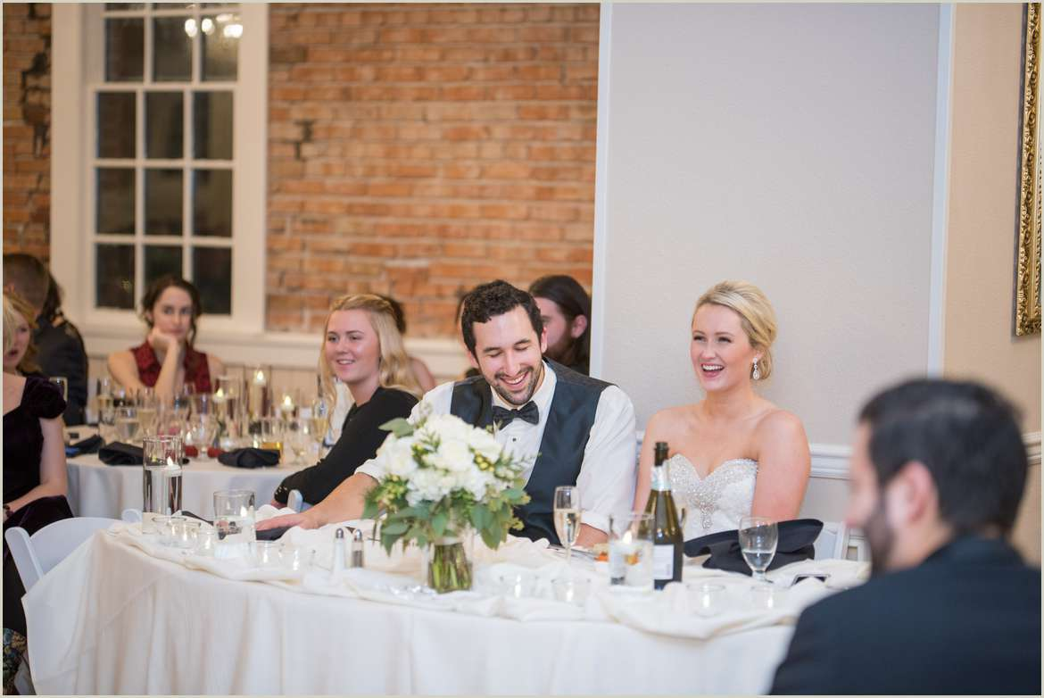 bride and groom reactions to toast 1