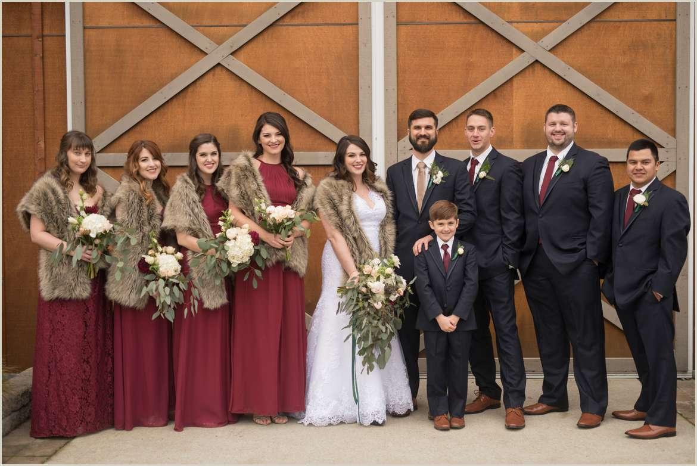 burgundy and greenery wedding colors