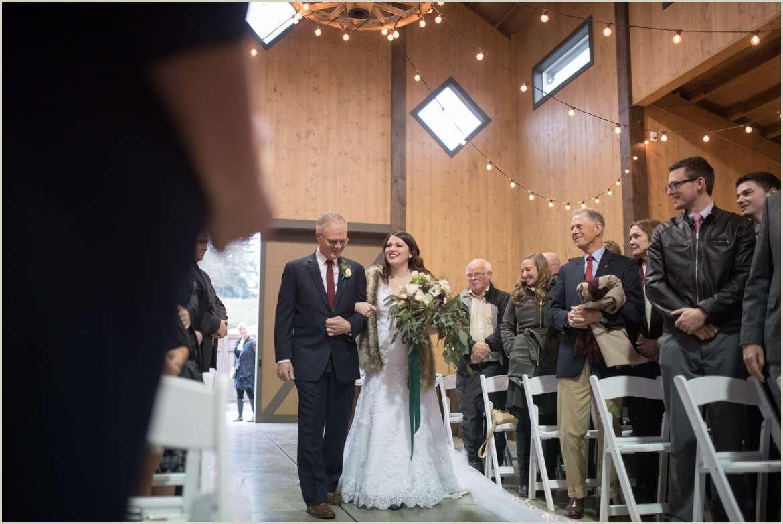 carlton farms indoor wedding ceremony