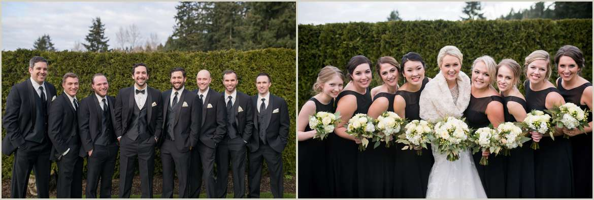 classic chic winter wedding party 1