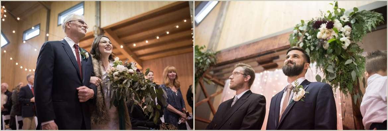 emotional low light wedding ceremony