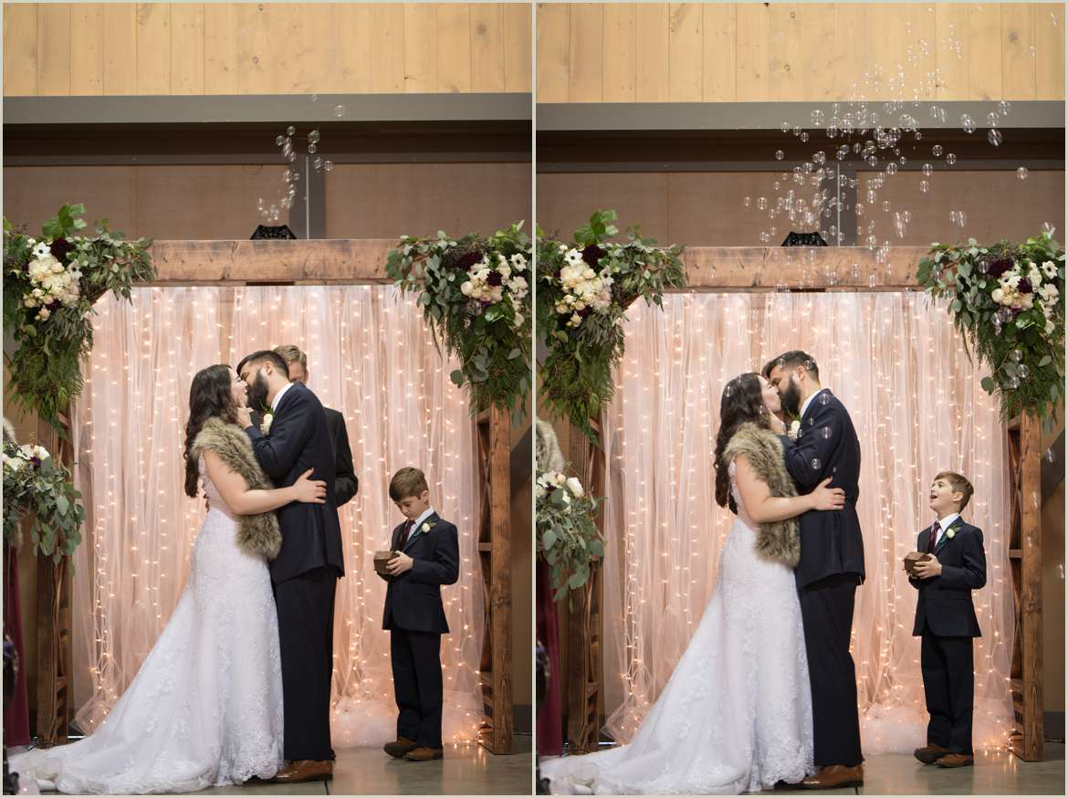 first kiss inside barn