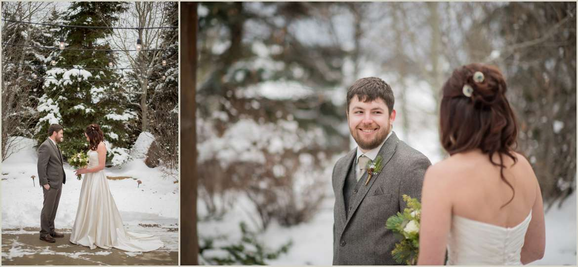first look photos in the snow