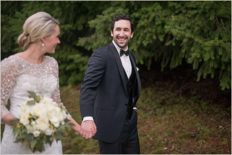 groom walking with bride 1