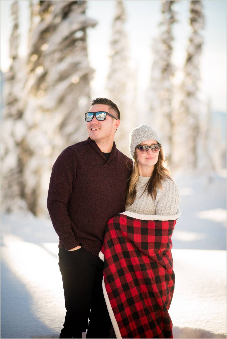 looking cool snow mt ranier engagement